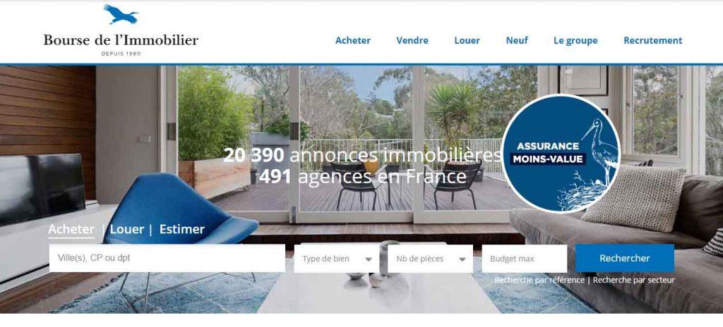 site internet bourse de l'immobilier