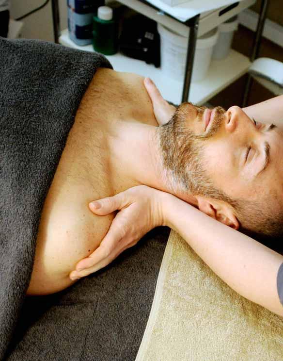 Un massage sur table