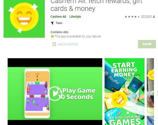 Cash'em all: avis sur cette application pour gagner de l'argent en jouant